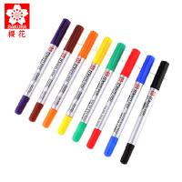日本SAKURA樱花油性小双头记号笔 彩色勾线笔签字标记笔CD光盘笔