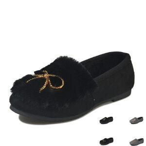 WARORWAR新品YM157-188秋冬休闲平底舒适女士毛毛鞋