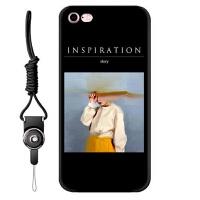 苹果iPhone6s手机壳网红同款7plus挂绳x男女8软硅胶6个性日韩ins情侣8x文字浮雕XS新 ⑥/⑥s-油画故