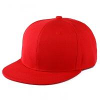 韩国版原宿纯色平沿嘻哈棒球帽子 光板街舞帽 DIY多色滑板潮 可调节