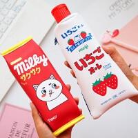 韩国个性创意笔袋小清新文具袋男女生初中生小学生可爱笔盒学生大容量笔袋