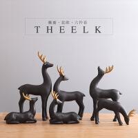 家居装饰品摆件北欧麋鹿客厅电视柜创意结婚礼物礼品