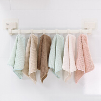厨房加厚不掉毛抹布洗碗布洗碗巾家务清洁巾干湿两用毛巾10条装摸布不掉毛大�{布厨房洗用布厨房�{布 10条装(颜色随机)