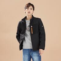 【2件2.5折到手价:47.5】美特斯邦威旗下4M夹克男士秋冬季立领休闲外套户外防风短外套