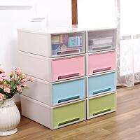 抽屉式桌面收纳柜长方形塑料收纳箱橱柜收纳盒整理盒小盒子储物盒