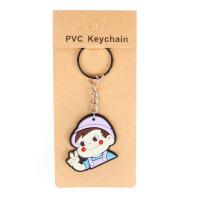 韩国可爱卡通硅胶汽车钥匙扣 创意情侣款钥匙环小挂件卡通钥匙圈