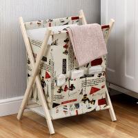 【限时直降包邮】幸阁 可折叠文化布艺杂志架脏衣篮 脏衣服收纳筐家用洗衣篮玩具储物