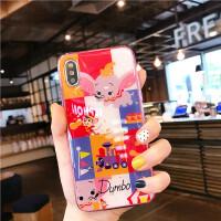 ins卡通小飞象苹果x手机壳iphone7/8plus全包软壳xs/max/xr套6s潮 苹果xr 红色