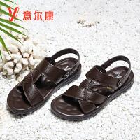 意尔康男鞋2018新款夏季新款男士凉鞋8342ZS90327W