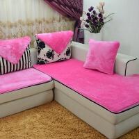 定制防滑毛绒沙发垫冬季 欧式布艺皮实木沙发垫子巾套罩飘窗坐垫