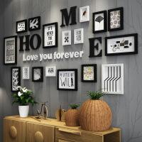 客厅沙发背景墙组合创意装饰画卧室餐厅墙上黑白个性挂画室内墙画 207*97