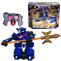 骅威儿童遥控玩具极速勇士格斗对战机器人充电智能玩具 铁甲三国 张飞 (蓝)