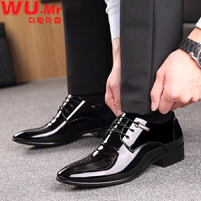 乌龟先森  皮鞋男士新款商务加绒保暖商务正装鞋男式休闲结婚伴郎伴娘婚鞋时尚鞋子