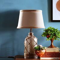 美式复古创意装饰台灯家居客厅卧室床头摆件书桌样板房软装饰品