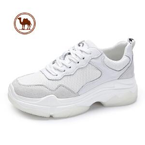 骆驼牌女鞋 2018新款夏运动鞋女ins的鞋子小白鞋厚底网红老爹鞋