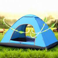 户外帐篷2人二室一厅全自动速开3-4人双人情侣野外露营帐篷春野营