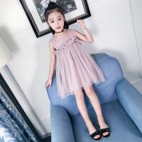 女童夏季裙子新款韩版洋气儿童夏装公主蓬蓬纱裙女孩时尚潮衣