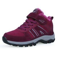 男女运动鞋冬季高帮户外大码雪地鞋中老年人加绒加毛保暖棉鞋