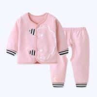 婴儿幼儿衣服秋衣秋裤套装春秋 0-1岁宝宝薄款内衣秋装lp
