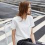 <11周年品牌庆,狂欢价168元>Amii极简丧系慵懒风印花短袖T恤2019夏新款圆领口袋直筒小短T