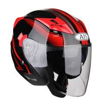 摩托车头盔男女半盔半覆式电动机车安全帽通用双镜片夏季四季