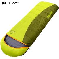 【保暖节-狂欢继续】法国pelliot户外睡袋秋冬加厚成人睡袋保暖室内露营可拼双人睡袋