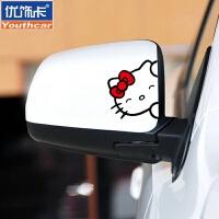 遮划痕车贴纸可爱卡通盖划痕车身车门后视镜贴 汽车用品