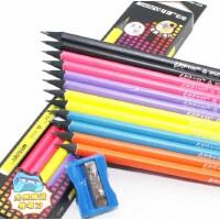 马可铅笔 HB/2B/2H三角形杆橡皮头铅笔小学生 原木铅笔易握正姿木杆 书写铅笔
