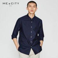 【1件3折到手价:44.7】MECITY男装春季纯棉韩版修身长袖衬衫男士春季衬衣
