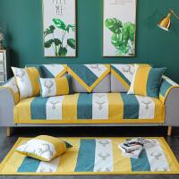 简约现代雪尼尔沙发垫四季通用布艺防滑北欧坐垫皮沙发套罩靠背巾