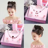 糖果公主儿童发夹插梳额头链组合礼盒装韩国女童甜美对夹发卡子小女孩发饰