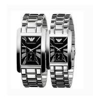 Armani阿玛尼手表男女情侣对表时尚防水方形石英表AR0156钢