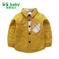 歌歌宝贝儿童长袖秋冬加绒加厚衬衫1-3岁宝宝加绒衬衣小孩衣服