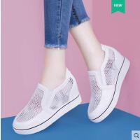 内增高小白鞋透气镂空女鞋夏季2018新款韩版百搭平底网面休闲网鞋