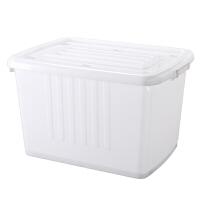 收纳箱塑料储物箱透明衣服被子整理箱带轮收纳盒大号