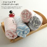 米多家 情侣款印花两条装毛巾洗脸巾家居