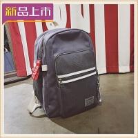 2018帆布旅行包大容量双肩包女笔记本.6寸电脑包学院风韩国学生书包