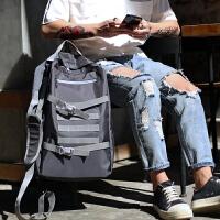 多功能双肩包男士大容量旅行背包时尚潮流街头中学生书包个