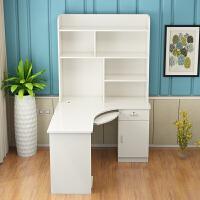 转角书桌书架组合台式电脑桌家用简约经济型儿童书桌带书柜学习桌