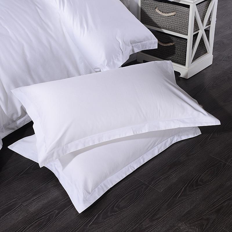 宾馆床上用品棉贡缎纯白色枕套单人枕头套  45CMX75CM 规格有歧义的商品,请联系客服咨询,以客服介绍为准!多拍错拍不发货
