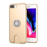 磁吸充电手机架苹果7/8指环7P/8plus保护套无线充电车载支架 金色-iPhone7 Plus/8 Plus(5.