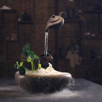 创意禅意流水喷泉客厅装饰风水家居办公室鱼缸加湿器中式摆件