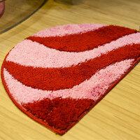木儿家居 地垫半圆可机洗吸水防滑地毯 脚垫厨房卫生间 进门垫