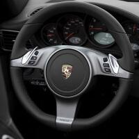 保时捷卡宴Macan帕拉梅拉911 Boxster手缝翻毛皮方向盘套718SN8696