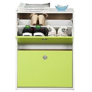 [当当自营]慧乐家 鲁比克二门彩色鞋柜 青绿色11047-2 防尘鞋架 柜子