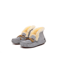 emugg豆豆鞋女鞋冬季加绒保暖平底短筒羊毛雪地靴女短靴澳洲百搭