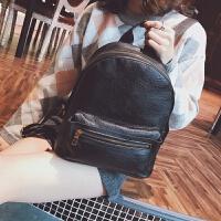 2018复古双肩包女韩版中学生皮书包软面休闲背包简约背包