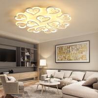 客厅灯 简约现代圆形桃心水晶灯客厅卧室书房灯家用大气LED吸顶灯