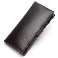 男零钱包真皮钱夹头层牛皮皮夹2折钱包长款抽带士休闲牛皮