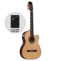 39寸古典吉他单板面单缺圆角考专业演奏佛拉门戈吉它